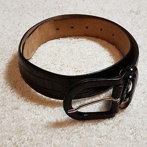 Ann Taylor dark brown leather belt
